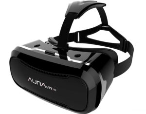 AuraVR Pro Fully Adjustable VR Glasses Headset with Remote Controller, best vr headset india under 2000