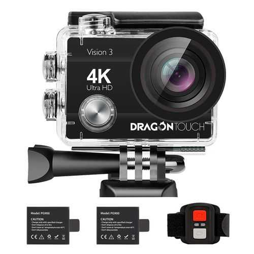 Dragon Touch 4K30fps WiFi Action Camera 16MP Vision3 Underwater Waterproof Sports Camera with Remote and Mounting Accessories Kit
